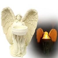 Cream Kneeling Angel Candle Tealight Votive Holder Decorative Ornament Figurine