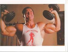 bodybuilder Larry Scott dumbell presses 60 pounds each bodybuilding photo color