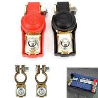 2PC Car Battery Terminal Adjustable Clamp Clip Connector Positive&Nagative S3L2