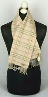 BURBERRY SCARF 90% WOOL 10% CASHMERE in pink colour  Made in Scotland #75