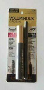 L'Oreal Voluminous Original Mascara + Eyeliner Waterproof 24Hr Wear 705 Black