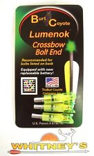 "Burt Coyote Lumenok Crossbow Nock Carbon Impact Crescent 3Pk .299"" Id Ci3000C3G"
