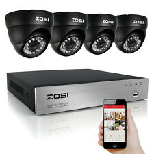 ZOSI 8CH 720P HMDI DVR Outdoor Dome Security Video IR Camera Wired CCTV System