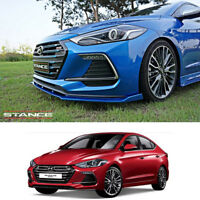 Front+Rear Lip+Side Skirts Body kits Unpainted For Hyundai Elantra Sports 2017+