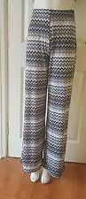 Ladies/womens size 10  Aztec pattern  flares/ Trousers/ plazo/summer pants B You