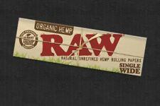 5x Zigarettenpapier RAW Zigaretten Papier King Size ORGANIC HEMP SINGLE WIDE