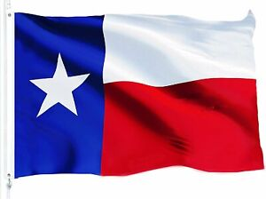 TEXAS STATE FLAG 3x5 Foot Polyester Lone Star TX USA Banner Red White Blue