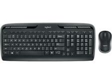 Logitech MK320 2.4 GHz Wireless Keyboard and Mouse Combo - Black