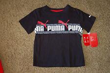 NWT Boy's PUMA Double Sided Printed T-Shirt Black Size 4 Nice LQQK Free Shipping