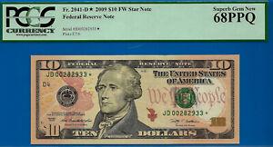 2009 $10 FRN (( Grade Rarity - Cleveland STAR )) PCGS Superb 68PPQ # JD00282933*