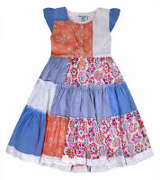 Girls Summer Dress Kids Floral Print Party Dresses Age 3 4 5 6 7 8 9 10 11 Years