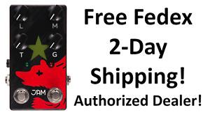 New JAM Pedals Red Muck Bass Fuzz Guitar Effects Pedal