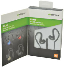 Citronic Dual Driver In-Ear Monitor Earphones Apple Compatible with microphone
