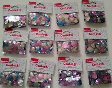 Lot of 12: 1 oz Packs of Heart-Shaped Confetti, Romance/Bridal/Wedding/Valentine
