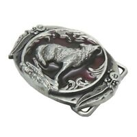 Fashion Men Belt Buckle Western Wolf Oval Belt Buckle American Cowboy For Men