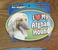 "Scandical I Love My Dog Laminated Car Pet Magnet 4"" x 6"" Afghan Hound"