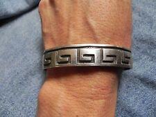 Sterling Silver Overlay WATER WAVE Cuff Bracelet signed F O Hopi
