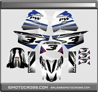 1990-2018 YAMAHA PW 50 GRAPHICS KIT DECALS STICKERS ALL YEARS DECO PW50 MX