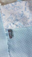 Handmade Blue/ Spotted Cotton Small Baby C/MB Sheet- WINNIE THE POOH Top Edge.