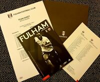 Fulham v Barnsley Matchday Programme with official teamsheet 15/02/20!!!