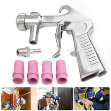 Sandblaster Abrasive Gun Air Siphon Feed Sand Blast Gun & 4 Ceramic Nozzles  🔥