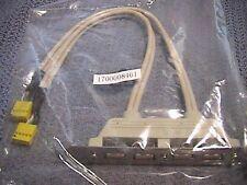 FAST US SHIP 4 PORT USB  TO MOTHERBOARD RISER CONNECTOR HEADER NEW SEALED BAG