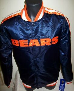 CHICAGO BEARS Starter Snap Down Jacket BLUE 4X, 5X, 6X