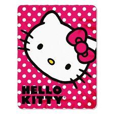 "Sanrio Hello Kitty Scented Plush Fleece Throw Large - 50"" x 60"" & 100% Polyester"