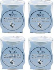 4x Price's Anti-Tobacco Candle in Jar - Eliminates Tobacco and Smoking Odour
