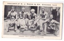 Advertising postcard Workmen South African Diamond Mines C.J. Roehr & Co Chicago