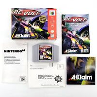 Re-Volt (Nintendo 64, 1999) Authentic Complete In Box w/ Poster Tested & Works