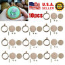 10 Sets Mini Embroidery Hoop Ring Craft Tools Wooden Cross Stitch DIY Frame US