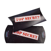 Top Secret Party Treat Boxes Spy Agent Police Box Bag Fillers (Pack Sizes 6-24)