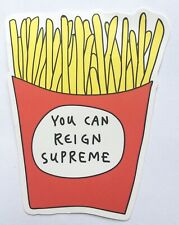 Supreme French Fries Vinyl Sticker Decal