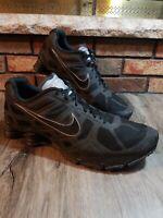Nike Shox Turbo 454166 001 Black / Metallic Cool Grey Mens Size 15 Limited! EUC