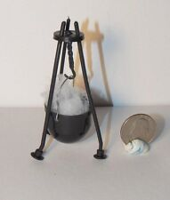 Dollhouse Miniature Witch Cauldron & Stand 1:12 inch scale K76 Dollys Gallery