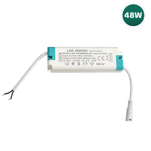 48W LED Driver Transformer Panel Light Power Supply With Female Barrel Connector