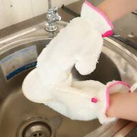 Bamboo Fiber Kitchen Clean Towel Home Washing Cleaning Rag Cloth Gloves 1Pair