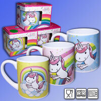 Keramik Kindertasse Regenbogen Einhorn, Unicorn Kakao Becher Kinderbecher