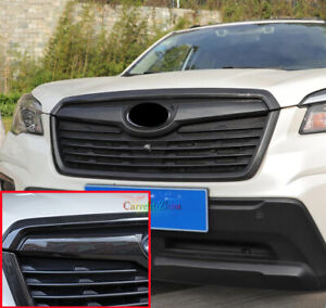 For Subaru Forester 2019-2021 Carbon Fiber Style Front Grille Frame Cover Trim