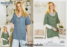 5d5d876dd7a0e6 Stylecraft 9380 Knitting Pattern Quick and Light- Tops in Mystique