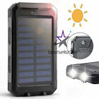 2020 Waterproof Solar Power Bank 9000000mAh Portable External Battery Charger US