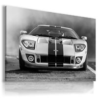 FORD GT WHITE Super Sport Car Large Wall Art Canvas Picture AU214  MATAGA