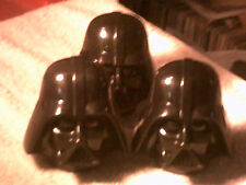 Vader Heads ,6 Plastic Heads,heads use to contain candy,now empty.
