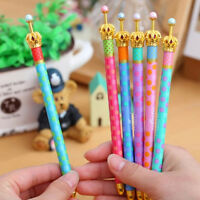 Metal Crown Ballpoint Pen Dot Ball Pen Writing Stationery School Office 5Pcs