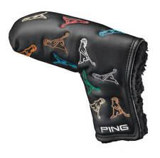 Ping Mr. Ping Putter Cover Blade Headcover New - Black/Multi-color