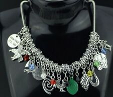 Disney's MOANA Princess  (11 Themed Charms) Silvertone Charm Necklace