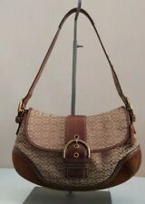 Coach Bag Signature Brown Hobo Soho Suede Leather 6808