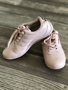 Levis Womens Tessa UL Sneakers Pink Leather Low Top Lace Shoes 10 New