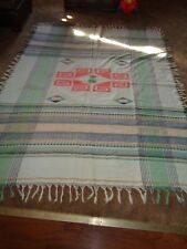 "VINTAGE MEXICAN BLANKET  WALL HANGING    APROX. 66"" x 84"""